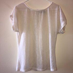 ROMY sheer white top